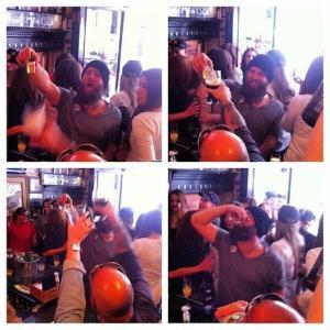 Napoli at a bar