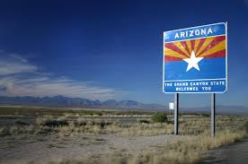 AZ welcome sign
