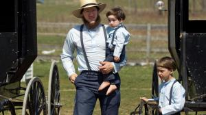 Amish man with kids