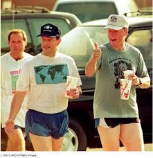 Clinton in shorts