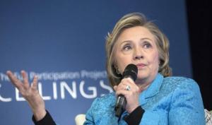 Hillary Clinton podium