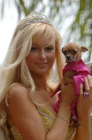 Paris Hilton and dog