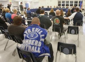 NJ football hazing town meeting