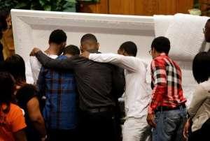 Baltimore burns casket