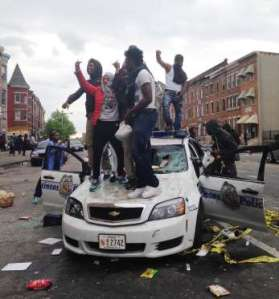 Baltimore burns rioters