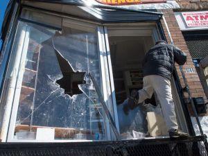Baltimore burns window smashed