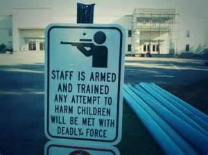 guns on campus sign