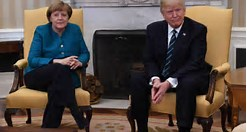 trump and obama merkel pic