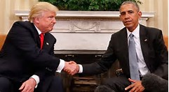 trump and obama pic