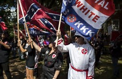 hatred american style kkk flags
